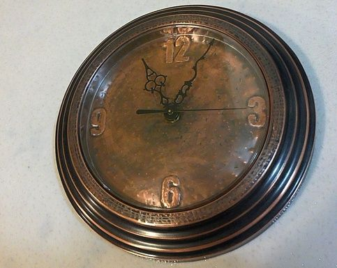 This Clock Is Hand Made Of Brushed Copper Mantel With Warm