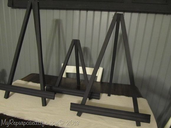 DIY small black easels