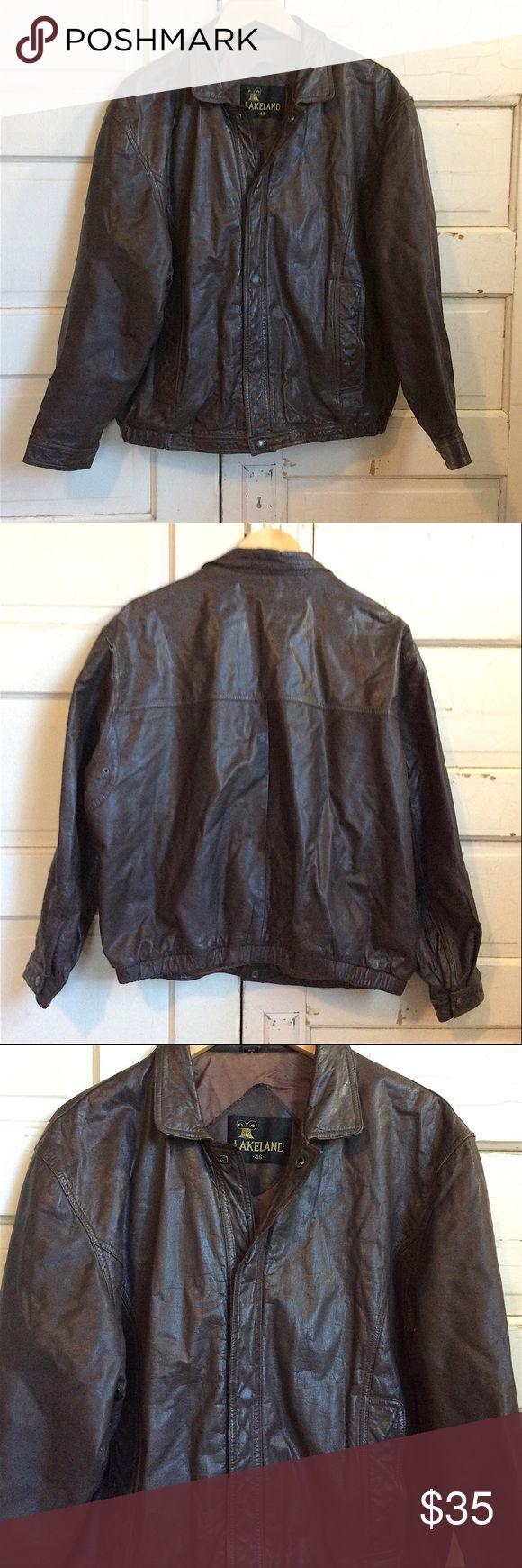 Men's Vintage Lakeland Leather Bomber Jacket Bomber