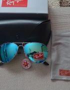 okulary ray ban aviator pełen zestaw   Cena: 100,00 zł  #niebieskieokulary #noweokulary