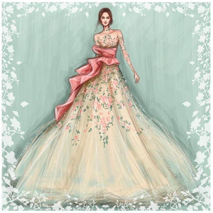 «@marchesafashion FW2016 #NYFW»  Fashion art, sketches, design, style, dress