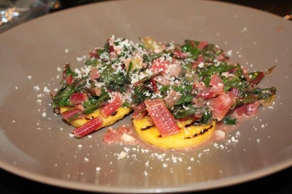 swiss polenta meatless monday squares vegetarian forward swiss chard ...