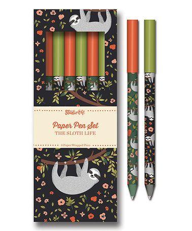 Look at this #zulilyfind! The Sloth Life Paper Pen Set #zulilyfinds