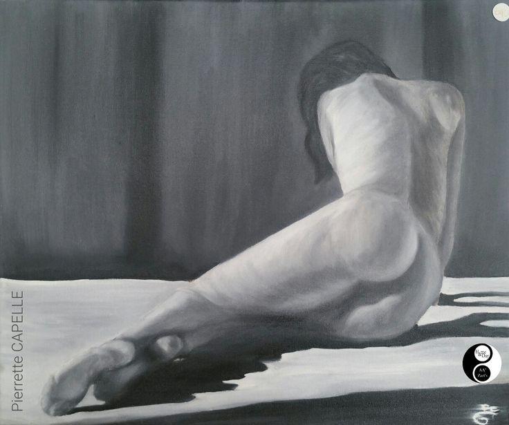 Pierrette CAPELLE en Expo AA'Zart'S #nude #peinture #art