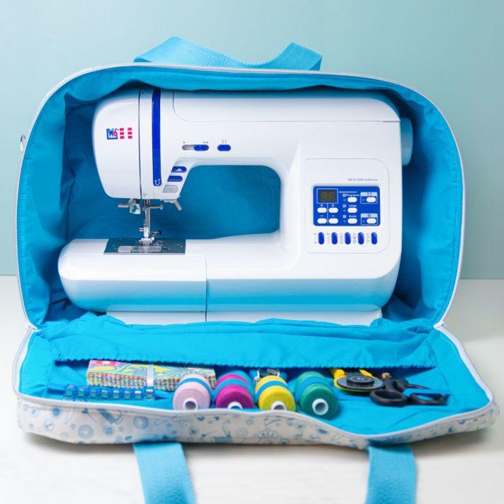 """Free sewing pattern: Sewing machine bag """"Sarah"""""""