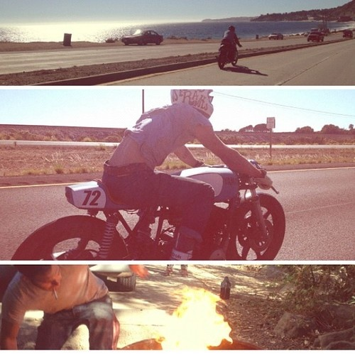 seaweedandgravel:    Camp fires and long rides. If your into #pinterest look at our boards for inspiration.