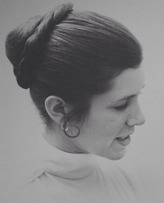Carrie Fisher as Princess Leia as seen in the end of The Empire Strikes Back