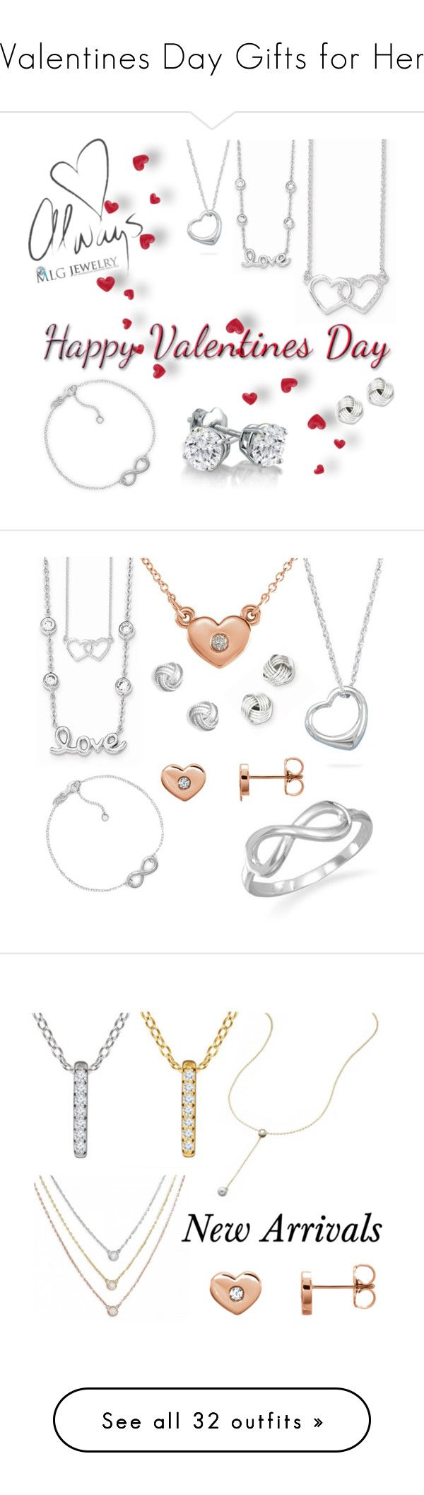 """Valentines Day Gifts for Her"" by mlgjewelry on Polyvore featuring Amanda Rose Collection, Wish by Amanda Rose, jewelry, earrings, necklaces, post back earrings, sterling silver post earrings, heart shaped earrings, post earrings and heart jewelry"