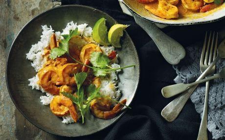 Prawns in Tomato and Coconut Milk Recipe by Reza Mahammad