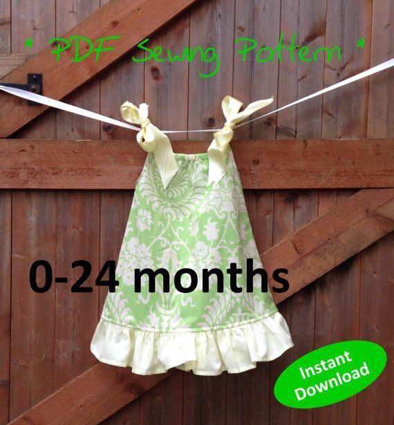 Adorable Baby Girl\u0027s Pillowcase Dress pattern for 0 to 24 months - PDF sewing pattern & The 25+ best Pillowcase dress pattern ideas on Pinterest | Pillow ... pillowsntoast.com