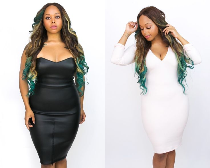 Chrisette Michele Drops Clothing Line for Curvy Girls - also hair, love the color.