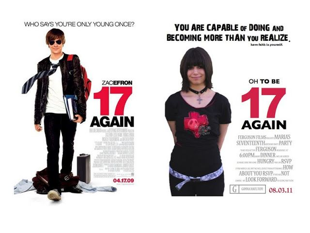 17th Birthday Party Theme Idea based on the movie 17 Again with Zac Efron