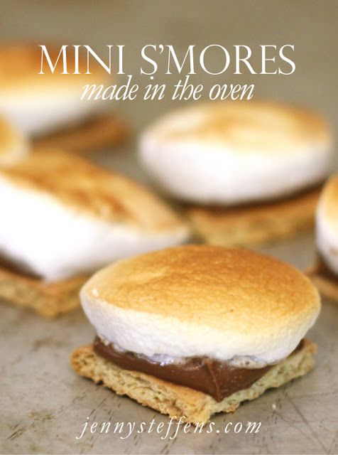 Jenny Steffens Hobick: Bite-Sized S'mores in the Oven | Easy Fall Dessert