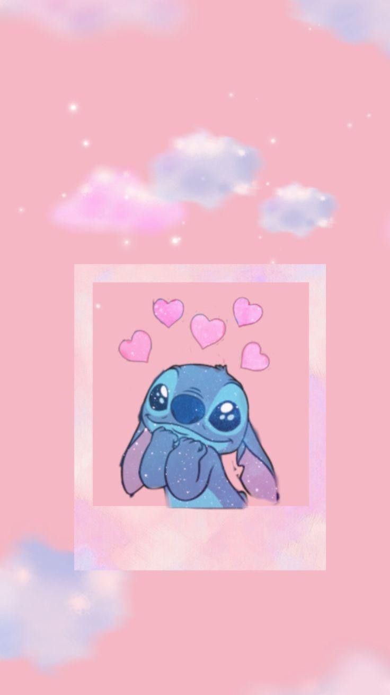 Stitch Wallpaper Pink Wallpaper Cartoon Cartoon Wallpaper Iphone Iphone Wallpaper Girly