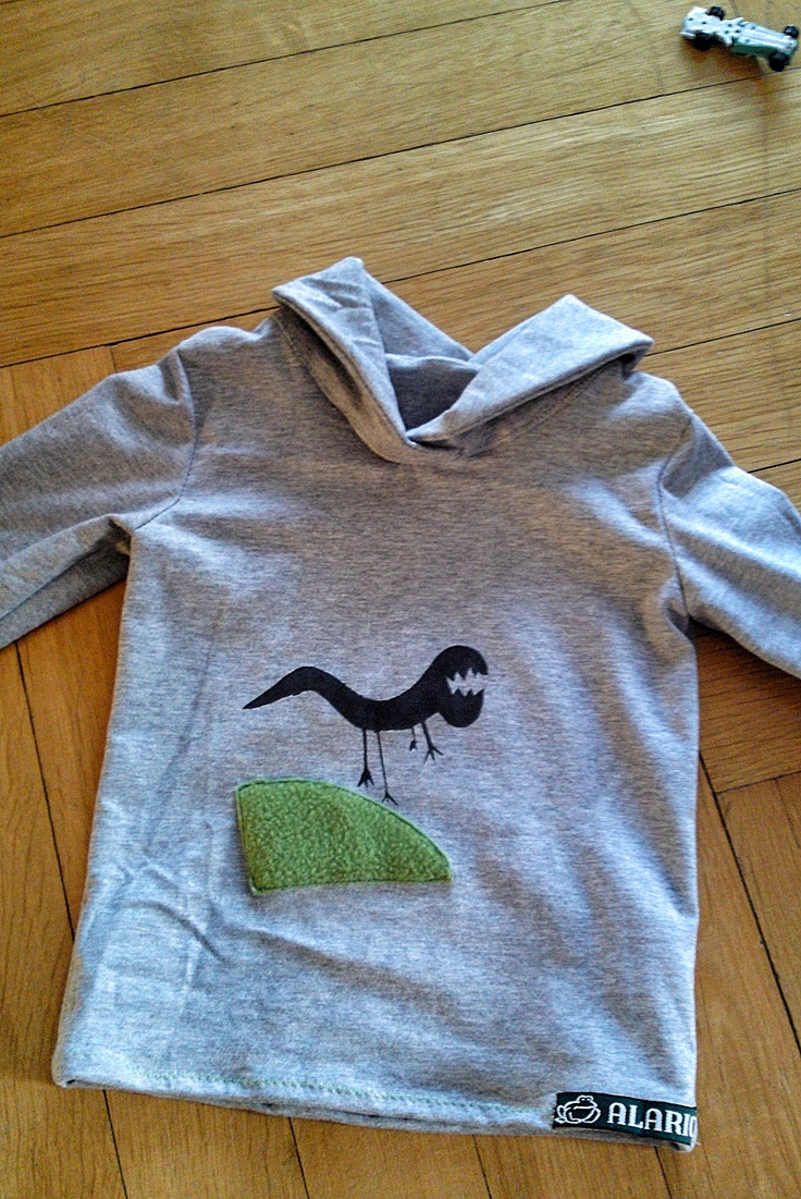 Dino shirt- my nephew drew the dino when he was very little and I re-designed the collar... rocking toddler shirt!