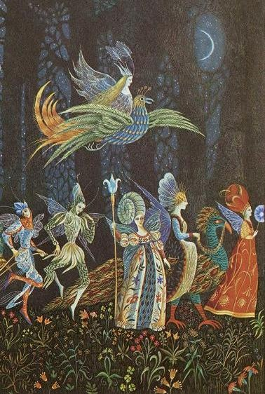 detail from The Thorn Rose (Brothers Grimm) illustration by Errol Le Cain