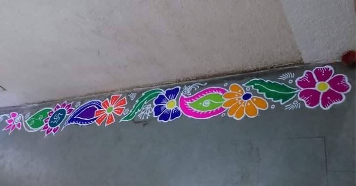 Free Hand Border Rangoli Designs