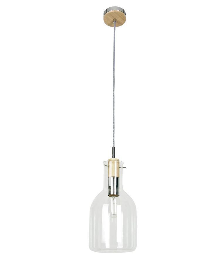 Lab 1 Light Pendant with 170mm Flat Beaker Shaped Glass Shade