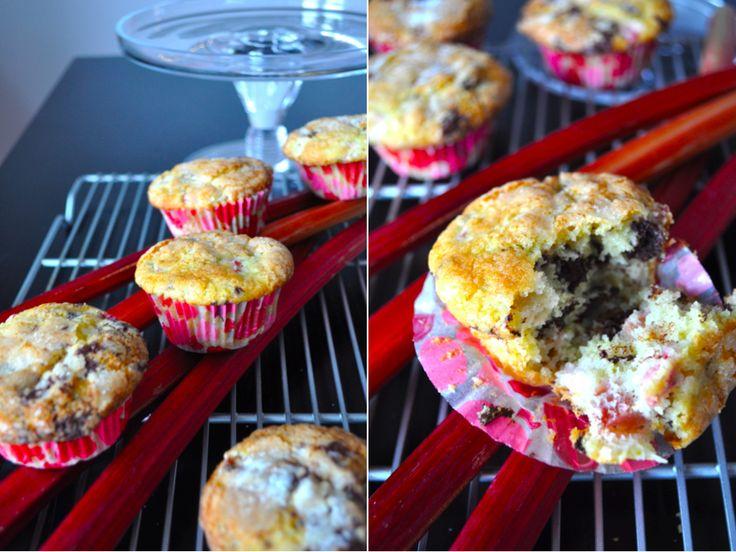 rhubarb orange choco muffins | Do You Know The Muffin Man | Pinterest