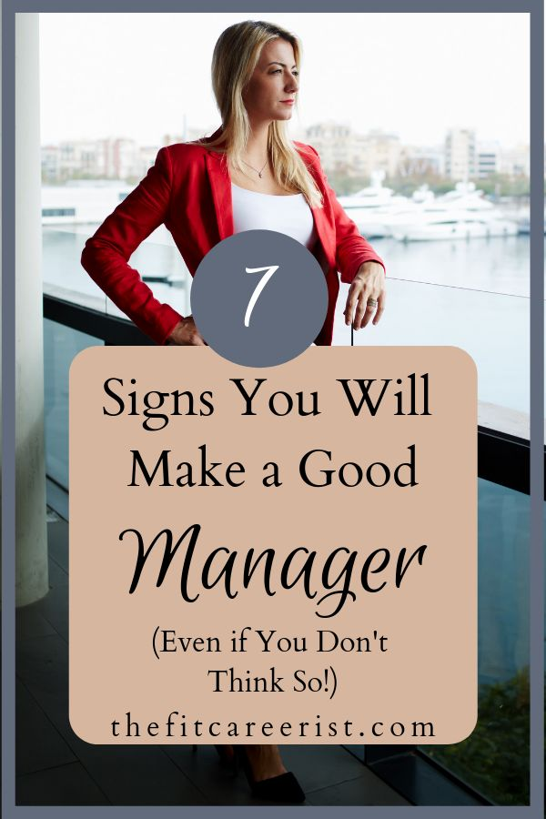 Signs You Will Make a Good Manager