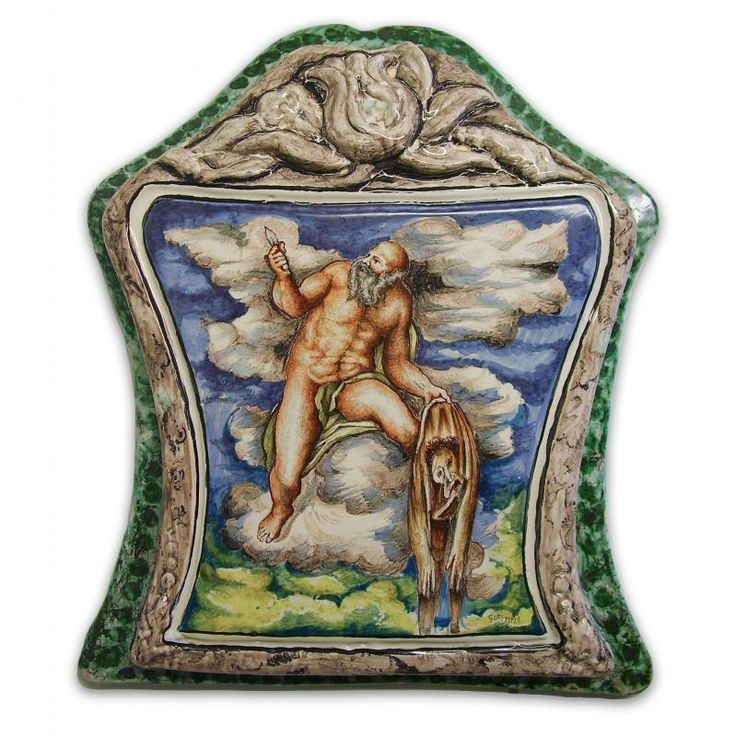 "Icon The Last Judgement. Ceramic Icon representing a detail of ""The Last Judgement"" by Michelangelo Buonarroti."