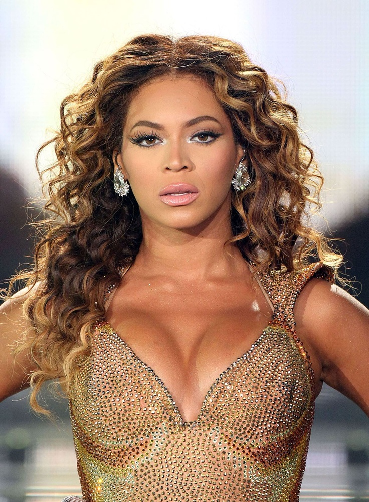 beyonce round face lb 1Curly Hairstyles, Hair Colors