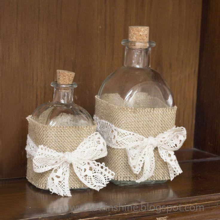 Shabby Chic Bottle Decoration