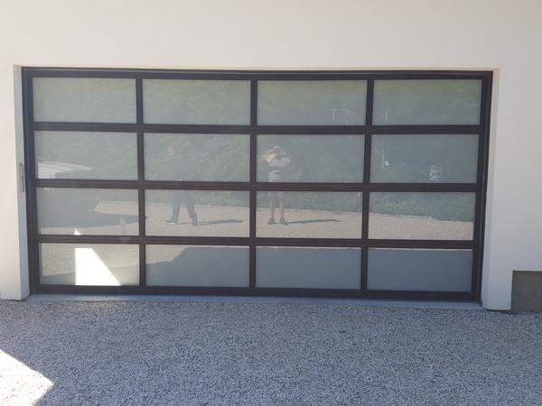 Contemporary Aluminum White Laminate Privacy Glass Garage Door Contemporary Garage Doors Modern Garage Doors Garage Doors