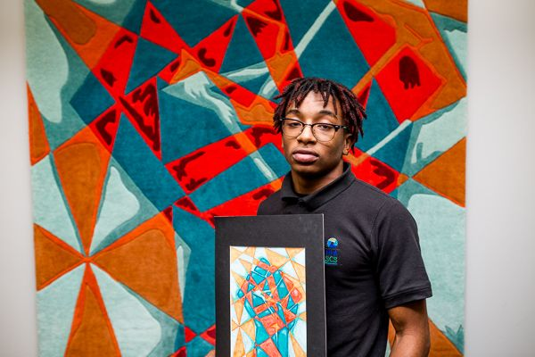 Raymond Underwood Winner Of The Hagopian Rug Design Contest Detroit Highschoolstudent Retweetdetroit Detroit Contest Design Art Programs