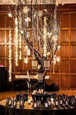Old World, Fairytale, Mansion Wedding - Reception, Decor, Black And White