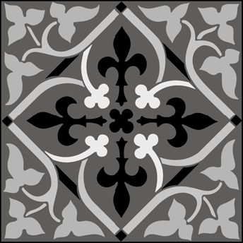Gothic and Medieval Tile No 3 stencils, stensils and stencles