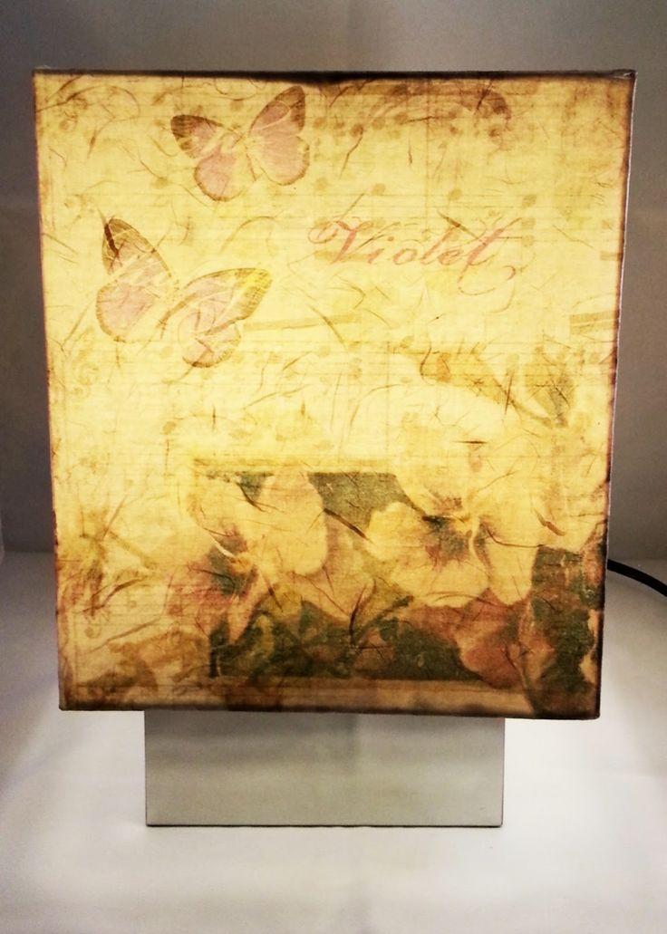 Shabby Violet Lamp | Milk with Honey