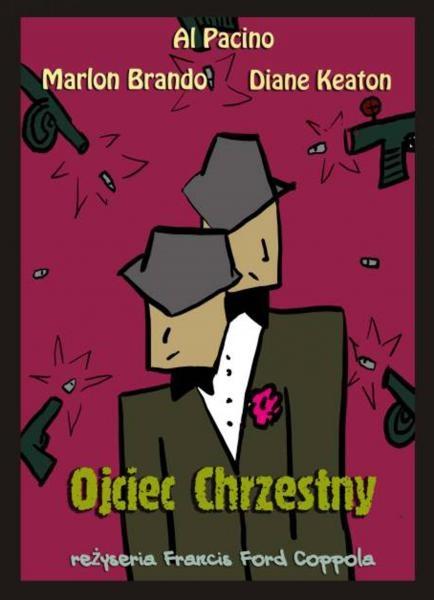 Poster to The Godfather by Polish artist, Jan Mlodozeniec