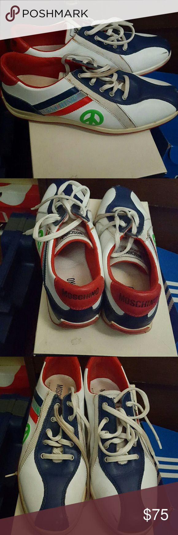 Moschino tennis shoes Red blue white and green classic sneakers moschino Shoes Sneakers