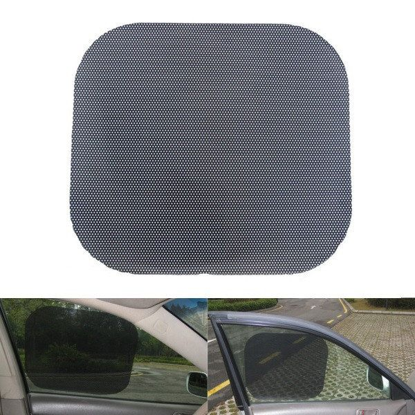 1 Pair 42x38cm UV Cut PVC Kersten Antistatic Car Window Shade Film Sun Protection Sticker