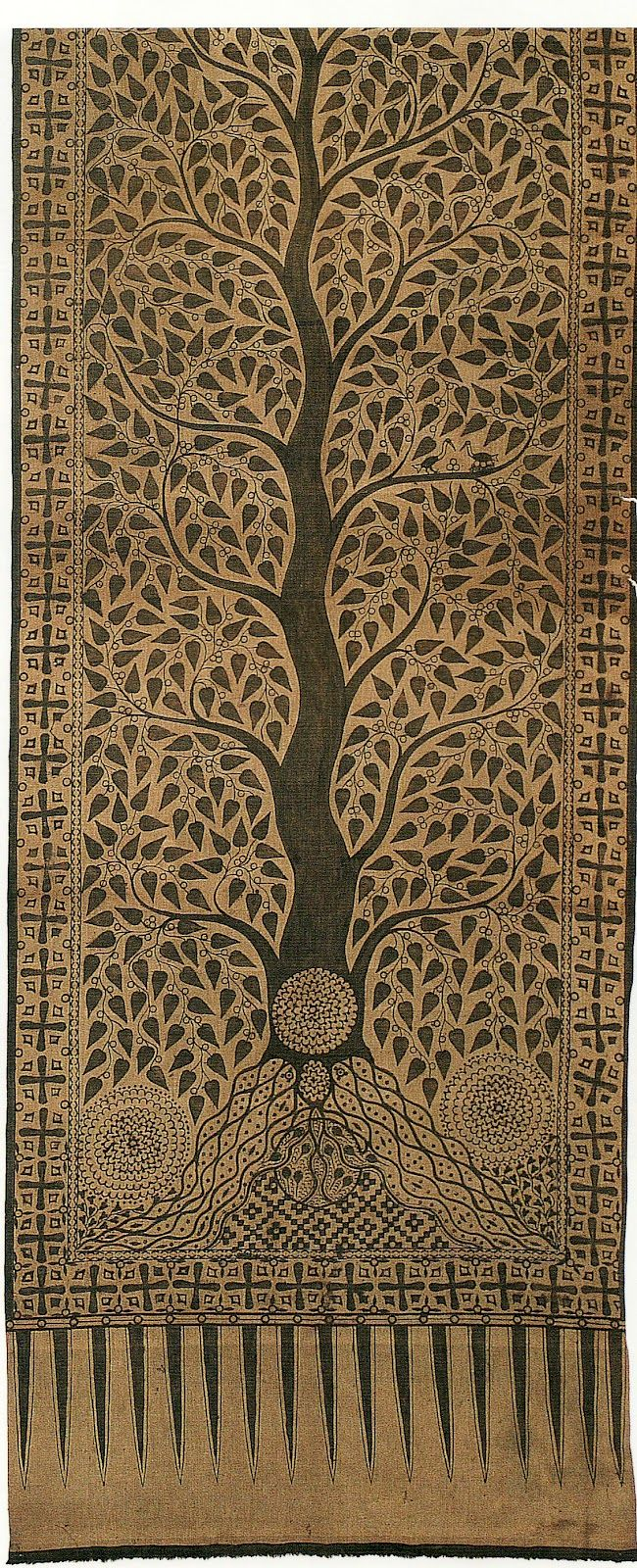 print on textile. Indonesian tree of life