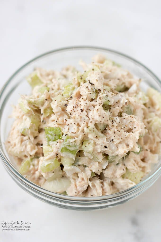 This Tuna Salad Recipe is an easy, basic salad recipe, perfect for Summer or any time of year. Whip it up for a quick bite to eat or make it for your next gathering!