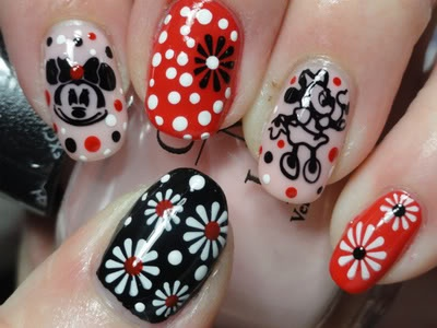 Minnie Mouse - supercute: Mice, Nailart, Minnie Mouse, Mouse Nails, Disney Nails, Nails Ideas, Nails Art Design, Art Nails, Nails Designs
