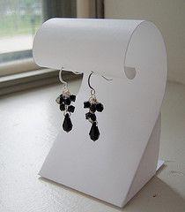 Tutorial for cardboard earring holder