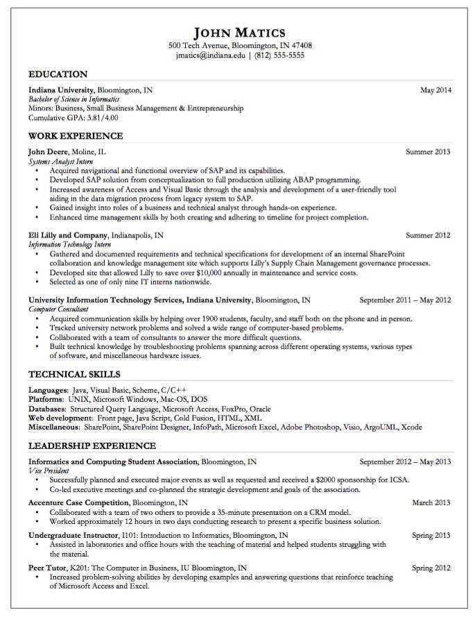 Sample Resume for Computer Consultant - http://exampleresumecv.org/sample-resume-for-computer-consultant/