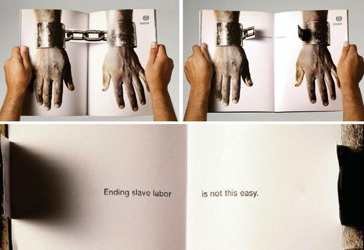 Creative print ad by International Labour Organization (May 2007)  #social #campaign