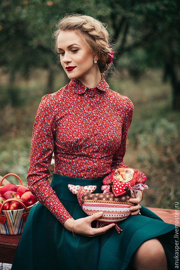 "Купить Комплект "" Настенька"" - юбка, юбка в стиле бохо, юбка солнце, блузка"