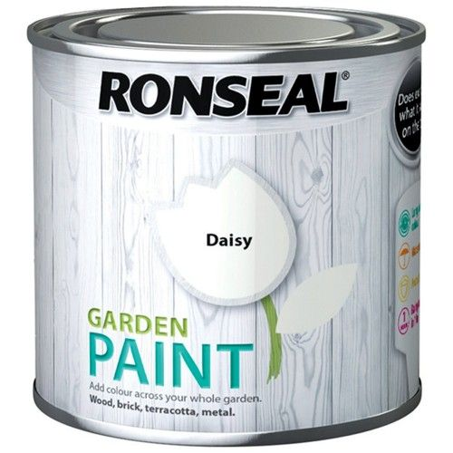 Ronseal Garden Paint daisy for kids table stripes