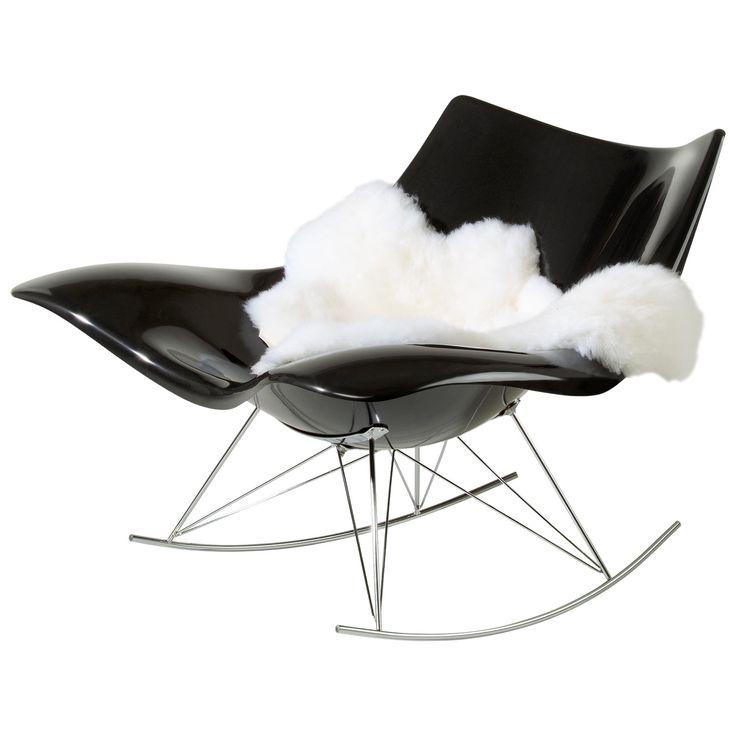 Stingray gungstol, svart från Fredericia Furniture