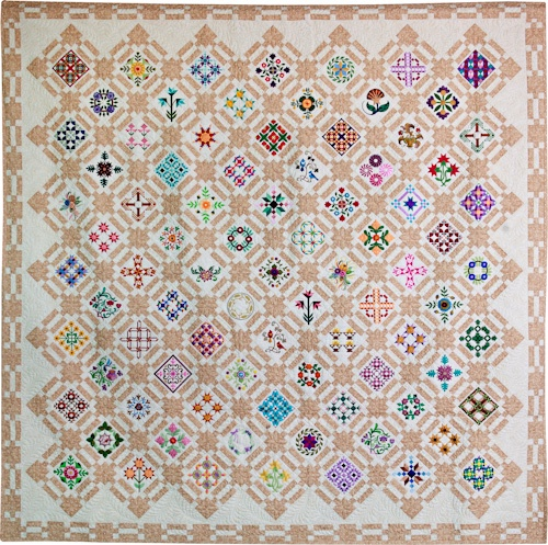 Montana Sampler by Lorrie Hockett, quilted by Salena Beckwith, Second Place, Large Quilts, 2011 NW Quilting Expo