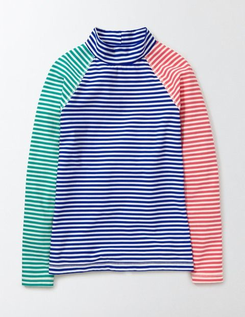 """""""Hit the water in our long-sleeved rash vest. The high neck and slim fit is designed to keep you super-comfortable no matter what, while the fabric provides UPF 50+ protection. Mix and match with other separates to make a beachside look like no other."""" Also from Boden! Sizes 5-16"""