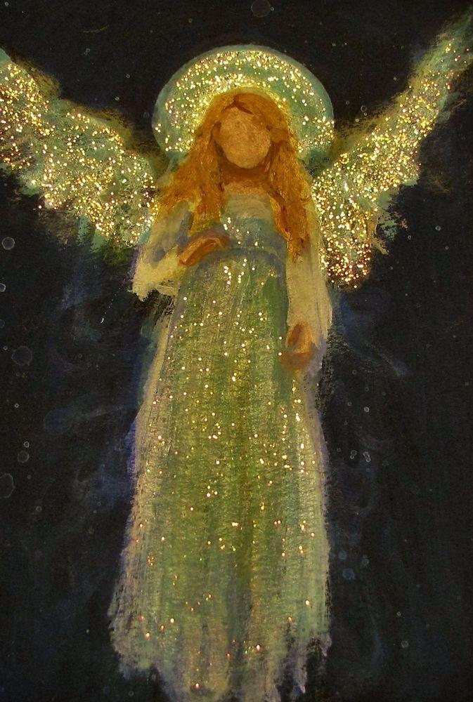 Original Angel Painting Healing Energy by Breten Bryden, BrydenArt.com