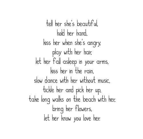 beautiful things to tell a girl