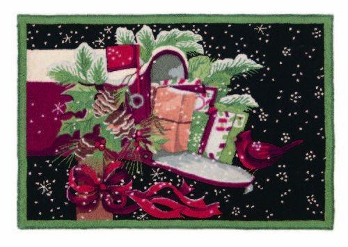 Christmas Snow Gifts Hooked Rug - Susan Winget - Peking Handicraft