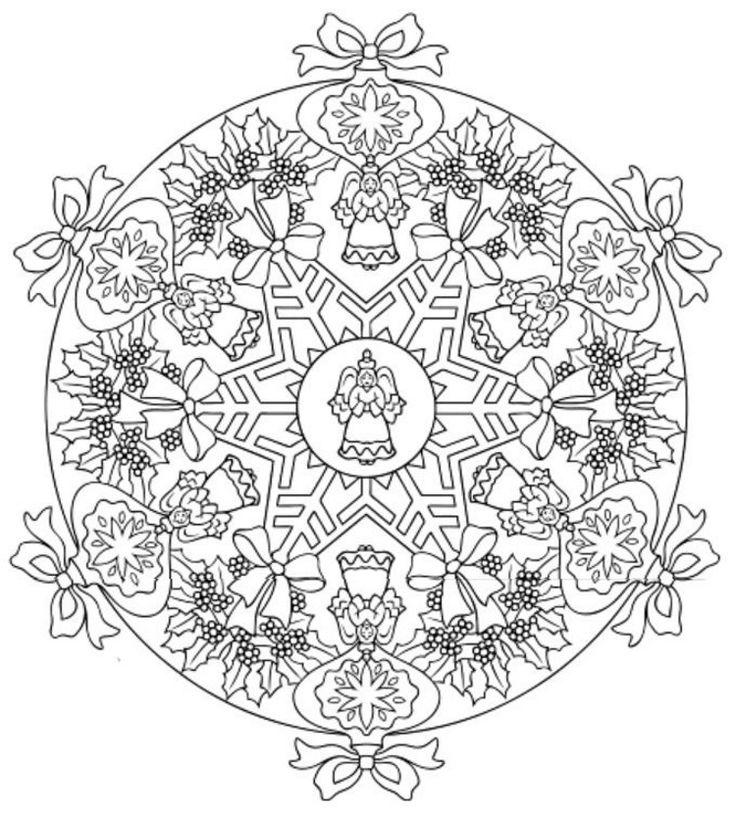 83 best Coloring: Christmas Mandalas & Wreaths images on ...